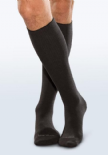 Adult Seamless Sensitivity Socks - Over the Calf - BLACK - (Smartknit)